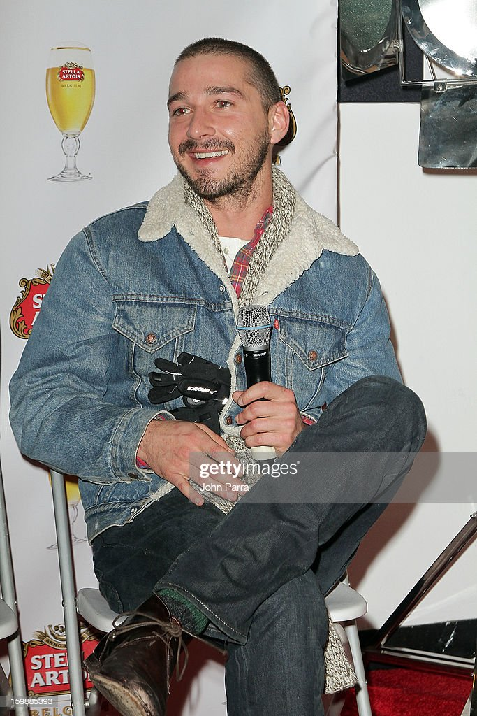 Actor Shia LaBeouf attends the Stella Artois hosted Press Junket for The Necessary Death of Charlie Countryman on January 22, 2013 in Park City, Utah.
