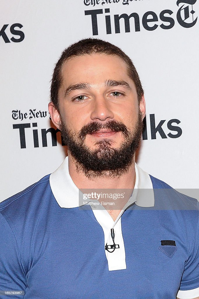 Actor <a gi-track='captionPersonalityLinkClicked' href=/galleries/search?phrase=Shia+LaBeouf&family=editorial&specificpeople=233442 ng-click='$event.stopPropagation()'>Shia LaBeouf</a> attends TimesTalks Presents: 'The Company You Keep' at TheTimesCenter on April 2, 2013 in New York City.