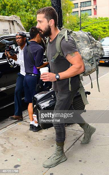 Actor Shia LaBeouf is seen in Soho on October 15 2014 in New York City