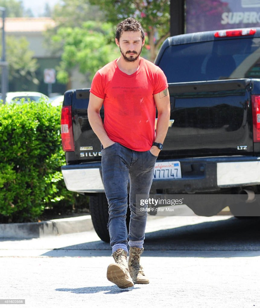 Actor Shia LaBeouf is seen on July 2, 2014 in Los Angeles, California.