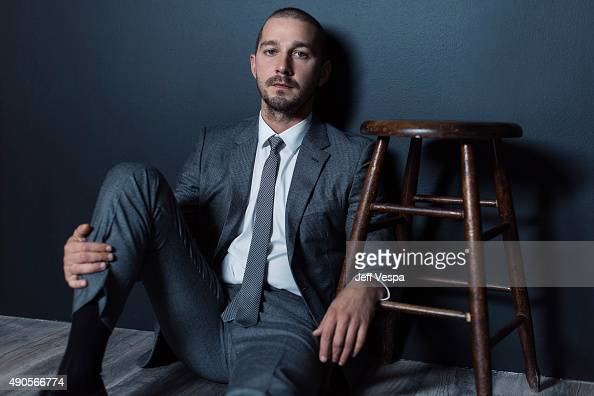 Actor Shia LaBeouf of 'Man Down' poses for a portrait at the 2015 Toronto Film Festival at the TIFF Bell Lightbox on September 15 2015 in Toronto...