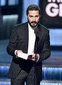 Actor Shia LaBeouf speaks onstage during The 57th Annual GRAMMY Awards at the STAPLES Center on February 8 2015 in Los Angeles California