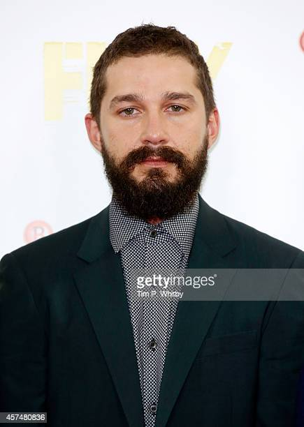 Actor Shia LeBeouf attends the photocall for 'Fury' during the 58th BFI London Film Festival at The Corinthia Hotel on October 19 2014 in London...