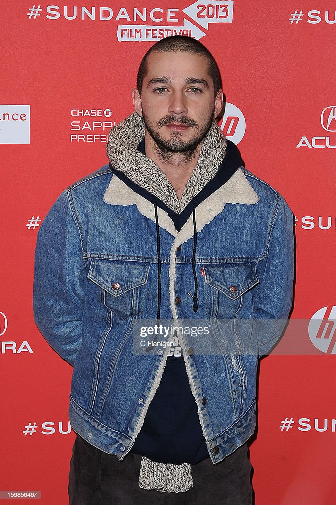 Actor Shia LeBouf attends 'The Necessary Death Of Charlie Countryman' premiere at Eccles Center Theatre during the 2013 Sundance Film Festival on January 21, 2013 in Park City, Utah.