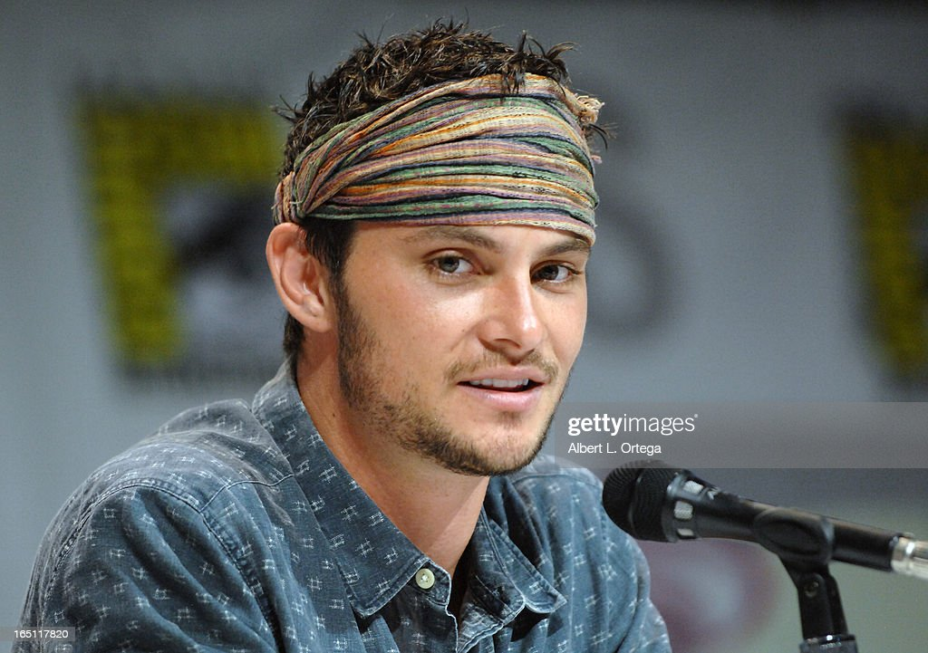 Actor Shiloh Fernandez promotes 'Evil Dead' on the Sony panel at WonderCon Anaheim 2013 - Day 2 at Anaheim Convention Center on March 30, 2013 in Anaheim, California.