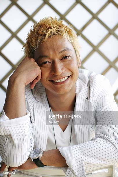Actor Shingo Katori poses for a portrait shoot while attending Cannes Film Festival on May 20 2007 in Cannes France
