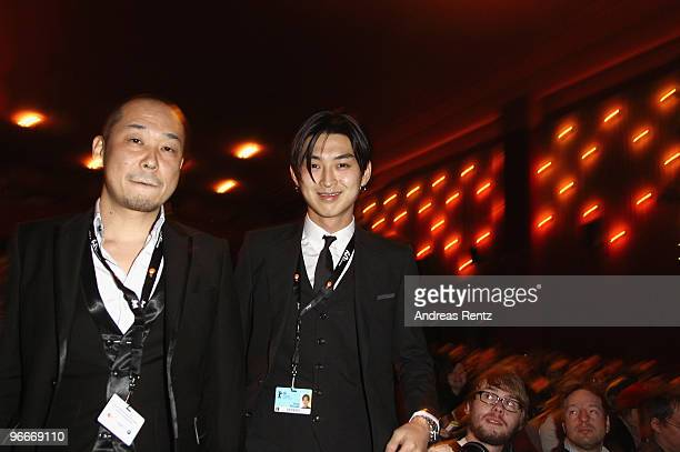 Actor Shota Matsuda and director Tatsushi Omori attend the 'A Crowd of Three' Premiere during day three of the 60th Berlin International Film...