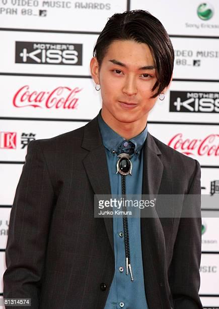 Actor Shota Matsuda poses for photographs on the red carpet during MTV Video Music Awards Japan 2008 at Saitama Super Arena on May 31 2008 in Saitama...
