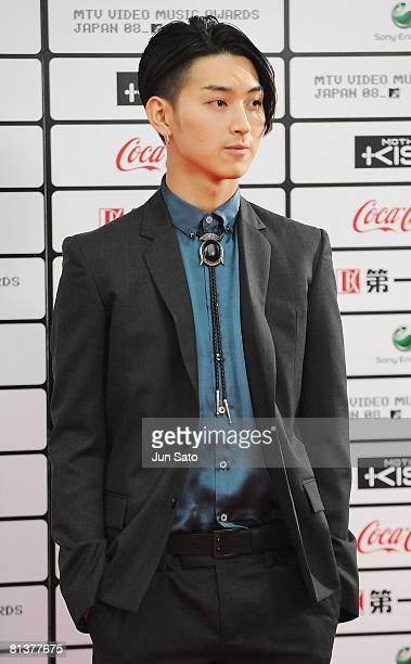 Actor Shota Matsuda walks on the red carpet during the MTV Video Music Awards Japan 2008 at the Saitama Super Arena on May 31 2008 in Saitama Japan
