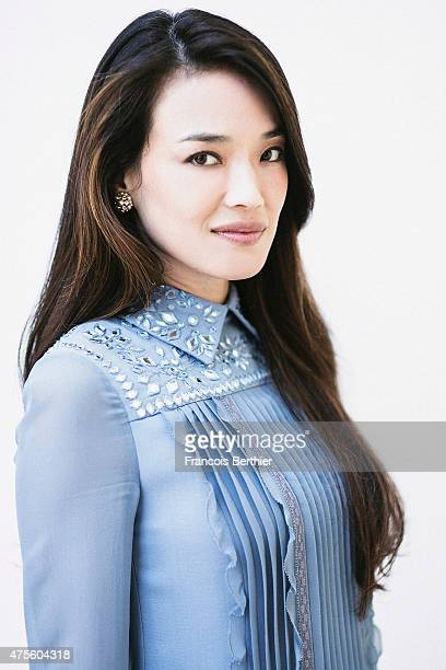 Actor Shu Qi is photographed on May 22 2015 in Cannes France