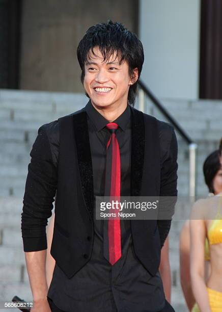 Actor Shun Oguri attends a press conference to promote the movie 'Lupin The Third' on August 19 2014 in Tokyo Japan