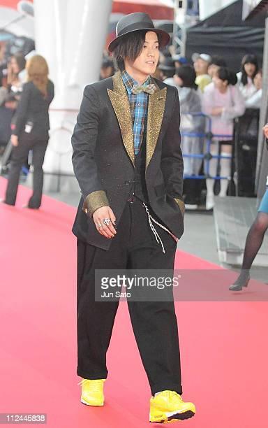 Actor Shun Oguri walks on the red carpet during MTV Video Music Awards Japan 2008 at Saitama Super Arena on May 31 2008 in Saitama Japan