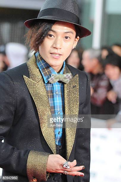 Actor Shun Oguri walks on the red carpet during MTV Video Music Awards Japan 2008 at Saitama Super Arena on May 31 2008 in Saitama Japan