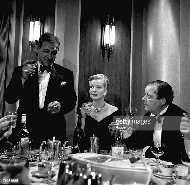 1953 Actor Sid James and Hilary Brooke in a scene from the film 'The House on the Lake'