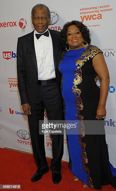 Actor Sidney Poitier and CEO of the YWCA Faye Washington attend the Greater Los Angeles YWCA Rhapsody Ball at the Beverly Wilshire Four Seasons Hotel...
