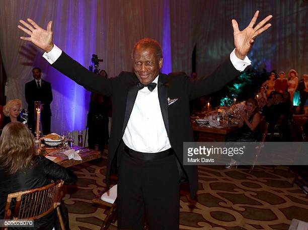 Actor Sidney Poitier attends the Brigitte and Bobby Sherman Children's Foundation's 6th Annual Christmas Gala and Fundraiser at Montage Beverly Hills...