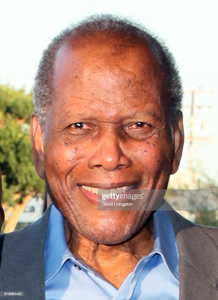 Actor Sidney Poitier attends the opening night of 'Born For This' at The Broad Stage on July 20, 2017 in Santa Monica, California.