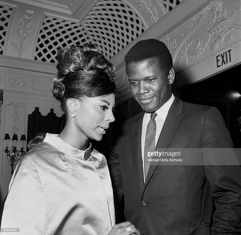 Actor Sidney Poitier and actress Leslie Uggams attend an event in Los AngelesCA
