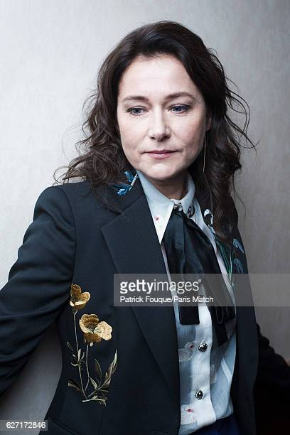 Actor Sidse Babett Knudsen is photographed for Paris Match on November 14 2016 in Paris France