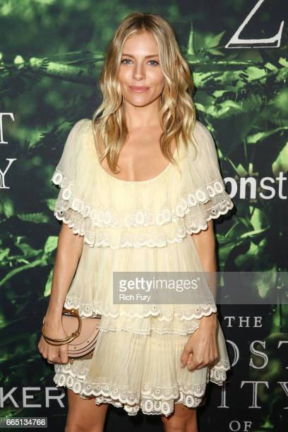 Actor Sienna Miller attends the premiere of Amazon Studios' 'The Lost City Of Z' at ArcLight Hollywood on April 5 2017 in Hollywood California