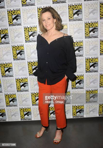Actor Sigourney Weaver attends Netflix's 'The Defenders' panel during ComicCon International 2017 at San Diego Convention Center on July 21 2017 in...