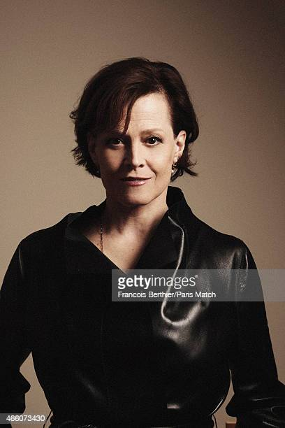 Actor Sigourney Weaver is photographed for Paris Match on February 26 2015 in Paris France