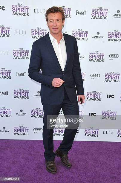 Actor Simon Baker arrives at the 2012 Film Independent Spirit Awards at Santa Monica Pier on February 25 2012 in Santa Monica California