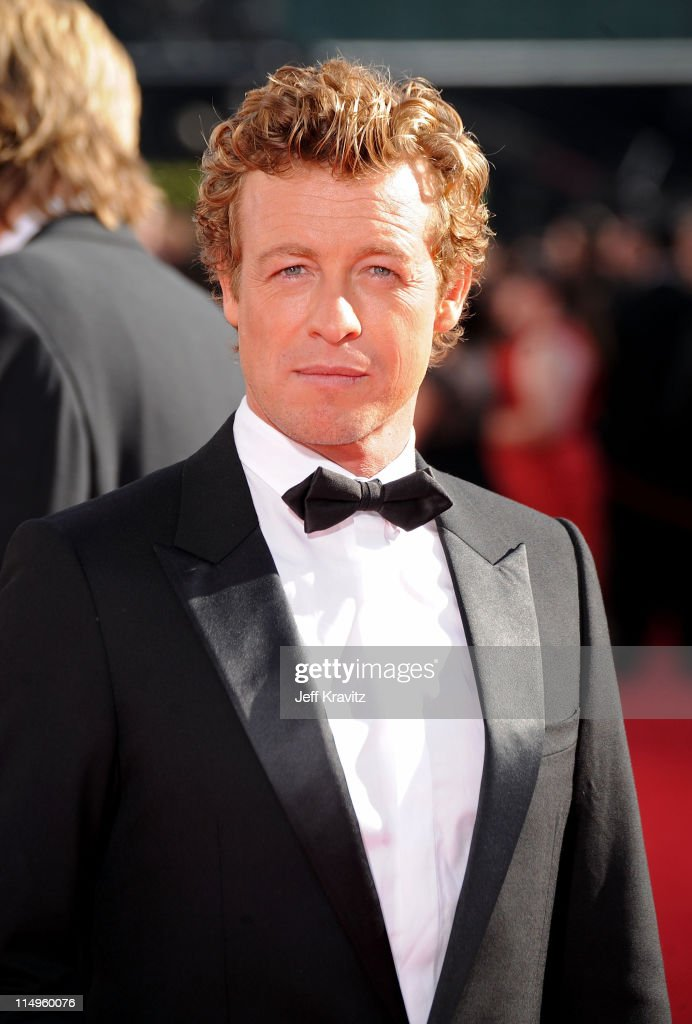 Actor Simon Baker arrives at the 61st Primetime Emmy Awards held at the Nokia Theatre on September 20, 2009 in Los Angeles, California.