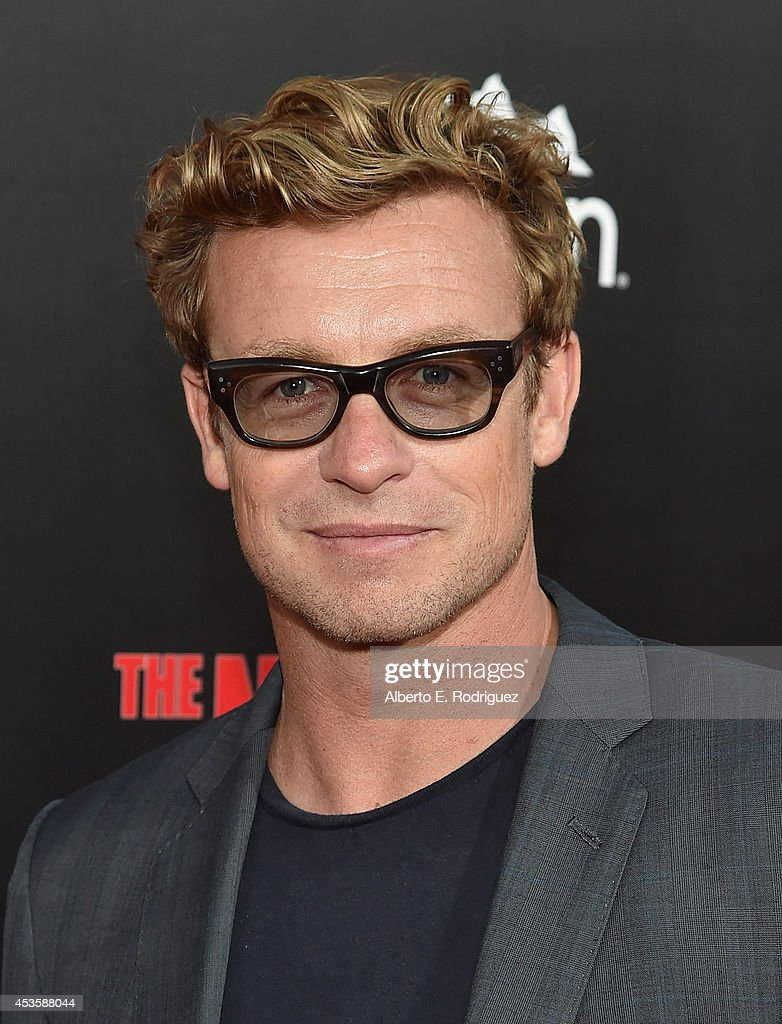 Actor Simon Baker arrives to the World Premiere of Relativity Media's 'The November Man' at the TCL Chinese Theatre on August 13 2014 in Hollywood...