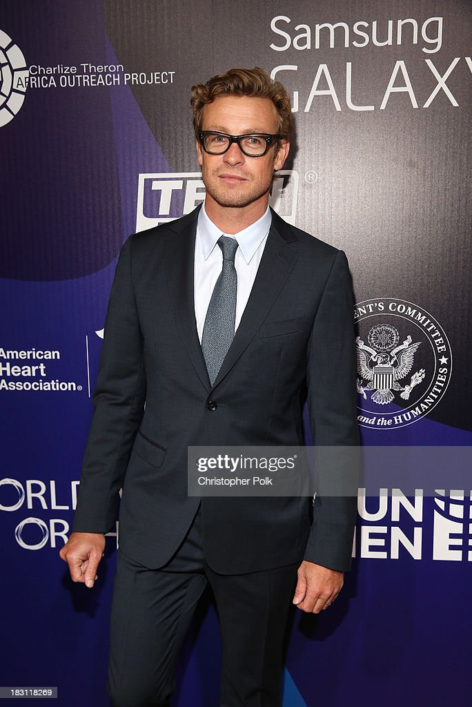 Actor <a gi-track='captionPersonalityLinkClicked' href=/galleries/search?phrase=Simon+Baker&family=editorial&specificpeople=206176 ng-click='$event.stopPropagation()'>Simon Baker</a> attends Samsung Galaxy at Variety's 5th Annual Power of Women event presented by Lifetime at the Beverly Wilshire Four Seasons Hotel on October 4, 2013 in Beverly Hills, California.