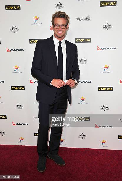 Actor Simon Baker attends the 2014 G'Day USA Los Angeles Black Tie Gala at JW Marriott Los Angeles at LA LIVE on January 11 2014 in Los Angeles...