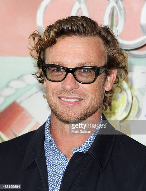 Actor Simon Baker attends the Audi Hamilton Island Race Week launch at North Bondi Fish on March 31 2015 in Sydney Australia