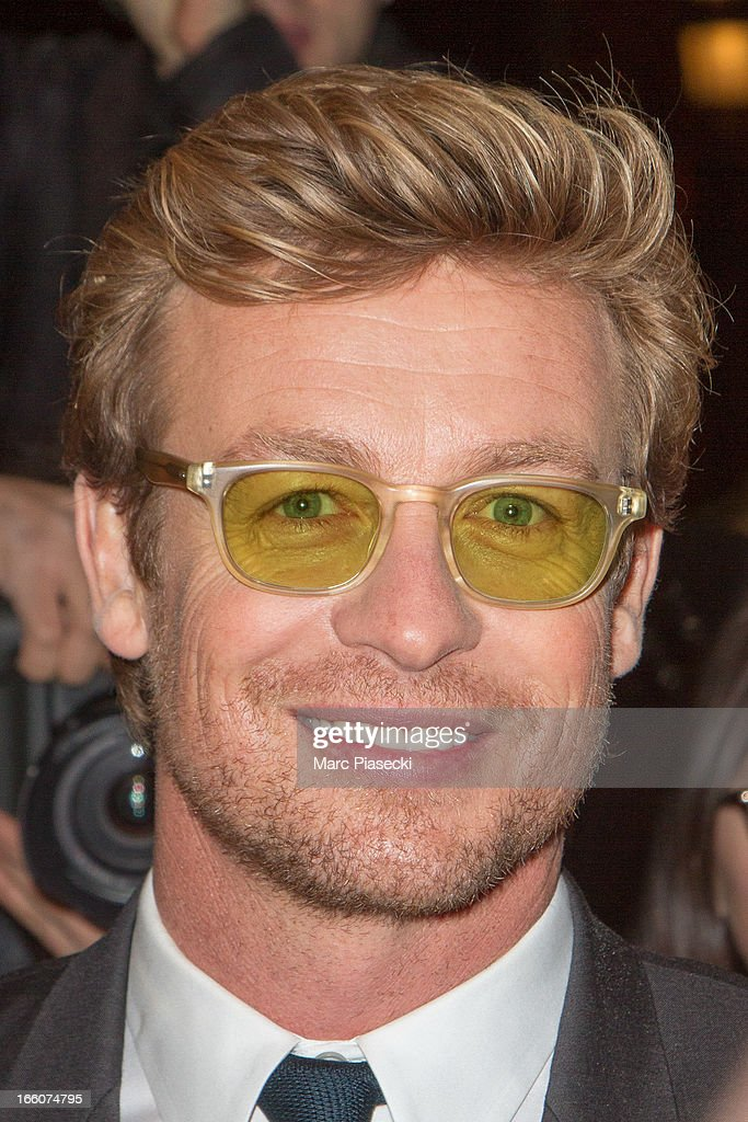 Actor <a gi-track='captionPersonalityLinkClicked' href=/galleries/search?phrase=Simon+Baker&family=editorial&specificpeople=206176 ng-click='$event.stopPropagation()'>Simon Baker</a> attends the 'Mariage A l'Anglaise' (I Give It A Year) Premiere at Cinema UGC Normandie on April 8, 2013 in Paris, France.