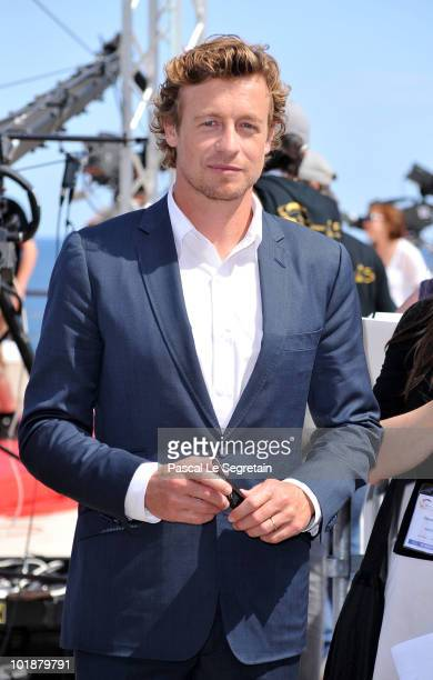 Actor Simon Baker from the TV series 'The Mentalist' poses during the 2010 Monte Carlo Television Festival held at Grimaldi Forum on June 8 2010 in...