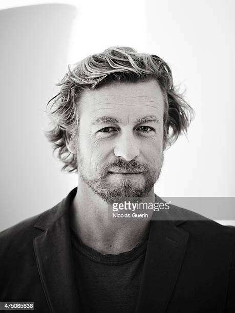 Actor Simon Baker is photographed on May 15 2015 in Cannes France