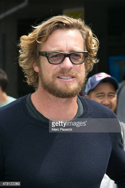 Actor Simon Baker is seen at Nice airport during the 68th annual Cannes Film Festival on May 13 2015 in Cannes France