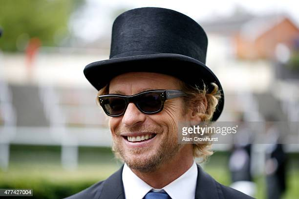 Actor Simon Baker is seen on Day 1 during Royal Ascot 2015 at Ascot racecourse on June 17 2015 in Ascot England