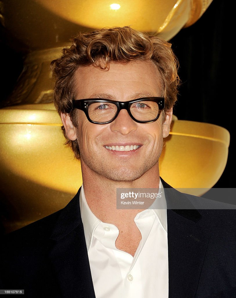 Actor Simon Baker speaks at the Hollywood Foreign Press Association's announcement of Jodie Foster as the recipient of the Cecil B. DeMille Award at the Beverly Hills Hotel on November 1, 2012 in Beverly Hills, California.