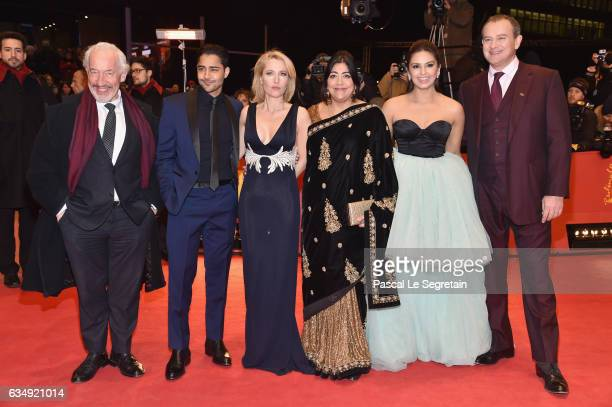 Actor Simon Callow actor Manish Dayal actress Gillian Anderson film director Gurinder Chadha actress Huma Qureshi and actor Hugh Bonneville attend...