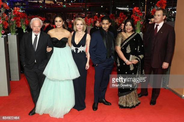 Actor Simon Callowactress Huma Qureshiactress Gillian Andersonactor Manish Dayal film director Gurinder Chadha and actor Hugh Bonneville attend the...