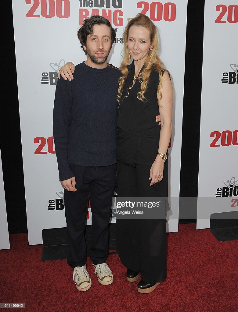 Actor Simon Helberg and his wife actress Jocelyn Towne arrive at CBS's 'The Big Bang Theory' Celebrates 200th Episode at Vibiana on February 20 2016...
