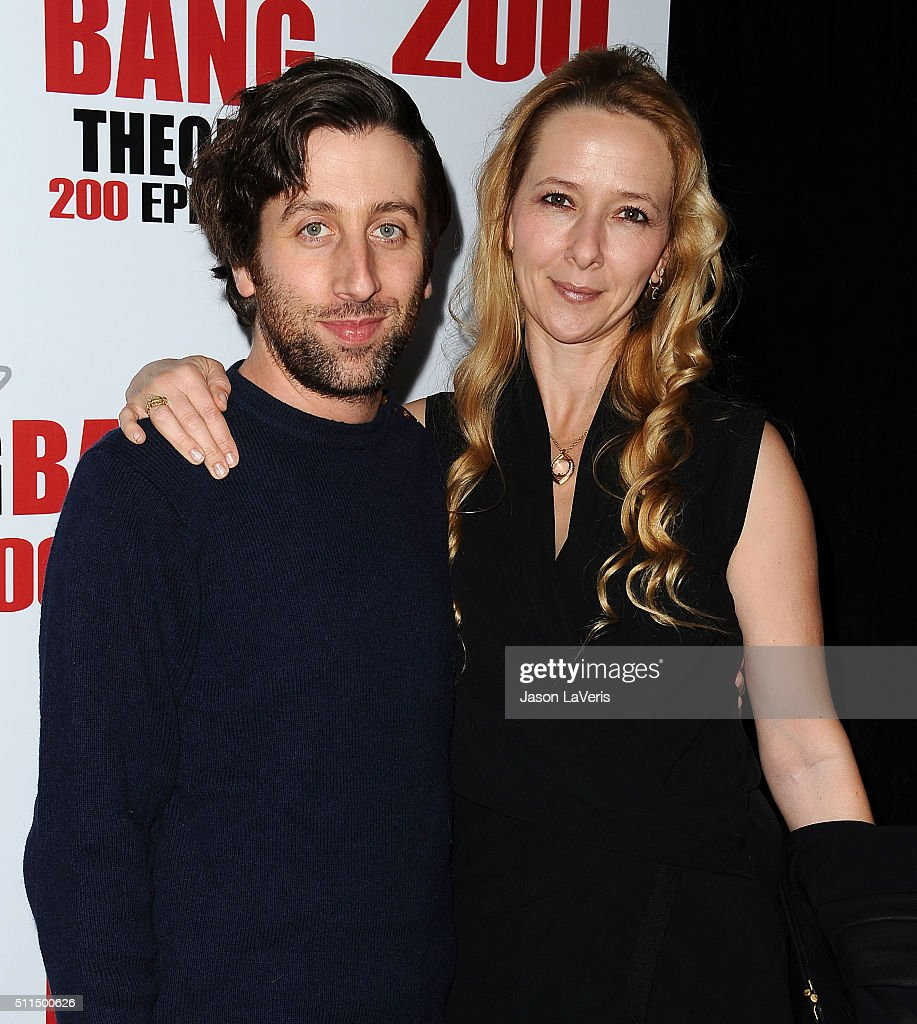 Actor Simon Helberg and wife Jocelyn Towne attend 'The Big Bang Theory' 200th episode celebration at Vibiana on February 20 2016 in Los Angeles...