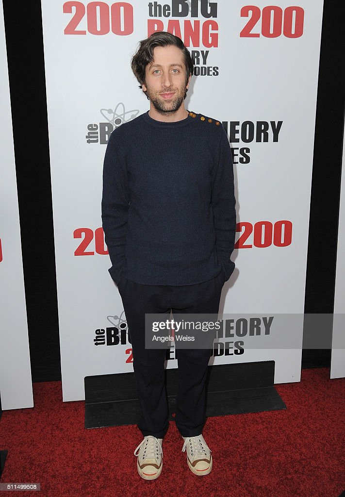Actor Simon Helberg arrives at CBS's 'The Big Bang Theory' Celebrates 200th Episode at Vibiana on February 20 2016 in Los Angeles California