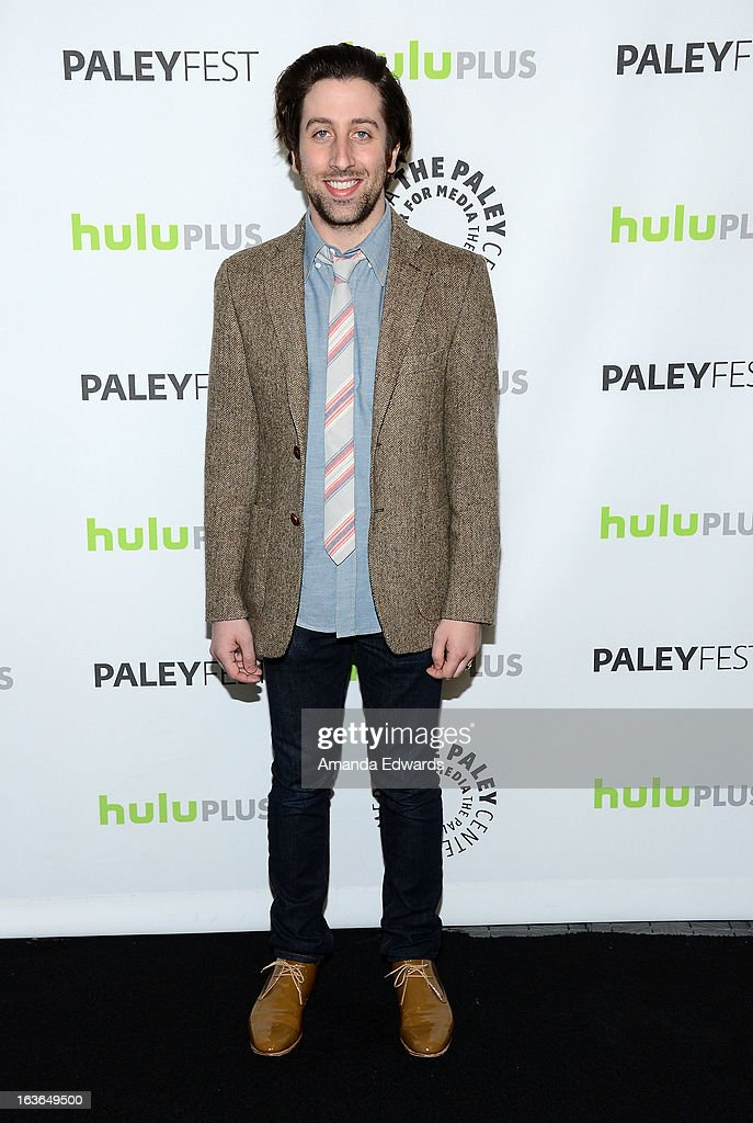 Actor Simon Helberg arrives at the 30th Annual PaleyFest The William S Paley Television Festival featuring 'The Big Bang Theory' at the Saban Theatre...