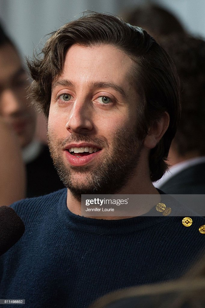 Actor Simon Helberg arrives at the CBS's 'The Big Bang Theory' Celebrates 200th Episode at the Vibiana on February 20 2016 in Los Angeles California