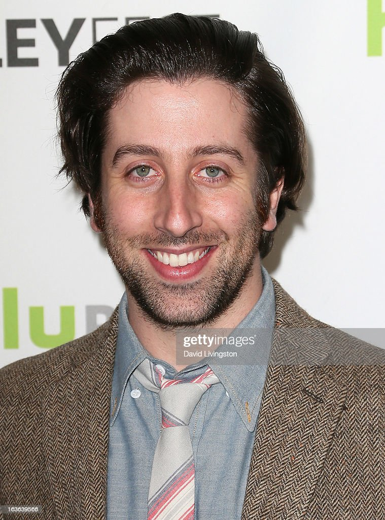 Actor <a gi-track='captionPersonalityLinkClicked' href=/galleries/search?phrase=Simon+Helberg&family=editorial&specificpeople=3215017 ng-click='$event.stopPropagation()'>Simon Helberg</a> attends The Paley Center For Media's PaleyFest 2013 honoring 'The Big Bang Theory' at the Saban Theatre on March 13, 2013 in Beverly Hills, California.