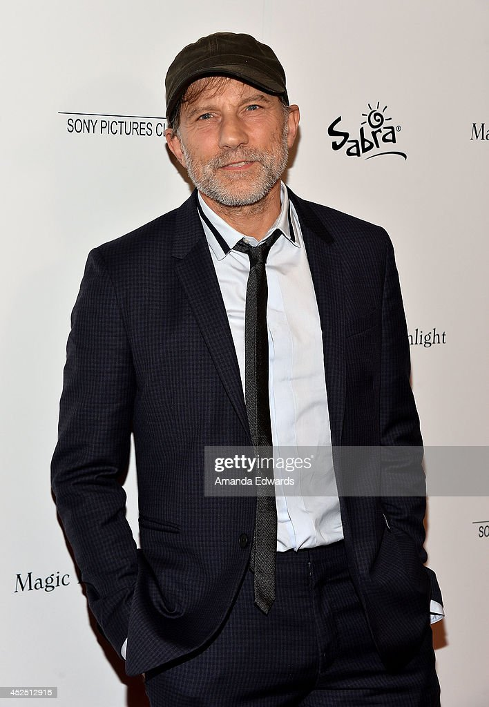 Actor <a gi-track='captionPersonalityLinkClicked' href=/galleries/search?phrase=Simon+McBurney&family=editorial&specificpeople=655067 ng-click='$event.stopPropagation()'>Simon McBurney</a> arrives at the special Los Angeles screening of 'Magic In The Moonlight' at the Linwood Dunn Theater at the Pickford Center for Motion Study on July 21, 2014 in Hollywood, California.