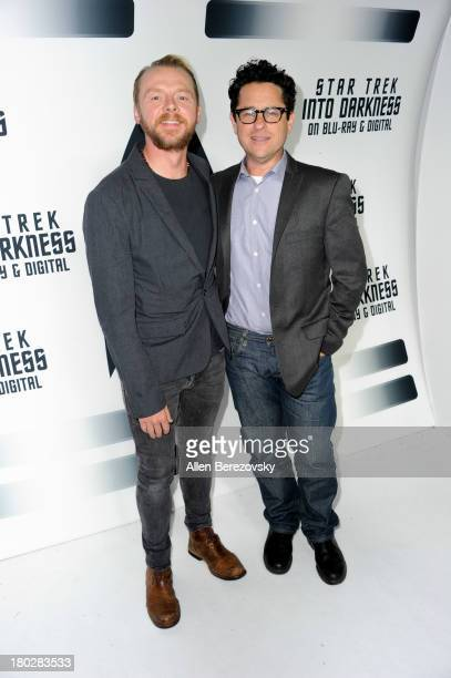 Actor Simon Pegg and director JJ Abrams attend the Paramount Pictures' celebration of the BluRay and DVD debut of 'Star Trek Into Darkness' at...