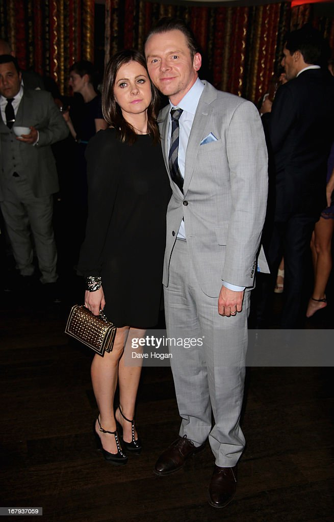 Actor <a gi-track='captionPersonalityLinkClicked' href=/galleries/search?phrase=Simon+Pegg&family=editorial&specificpeople=206280 ng-click='$event.stopPropagation()'>Simon Pegg</a> and his wife Maureen McCann attend the 'Star Trek Into Darkness' After Party at Aqua on May 2, 2013 in London, England.