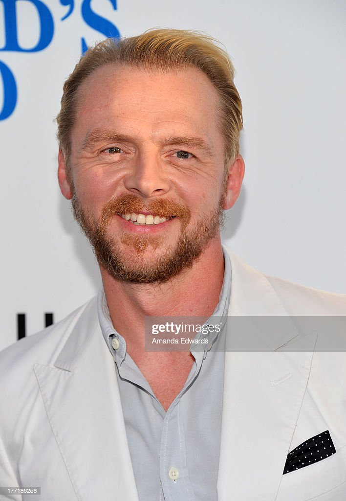 Actor <a gi-track='captionPersonalityLinkClicked' href=/galleries/search?phrase=Simon+Pegg&family=editorial&specificpeople=206280 ng-click='$event.stopPropagation()'>Simon Pegg</a> arrives at the Los Angeles premiere of 'The World's End' at ArcLight Cinemas Cinerama Dome on August 21, 2013 in Hollywood, California.